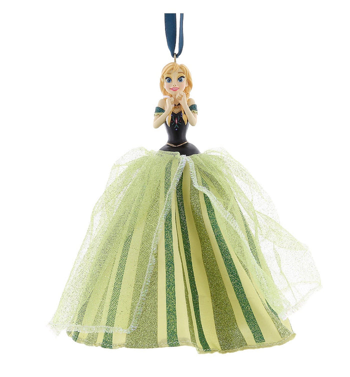 disney parks christmas holiday frozen anna tulle ornament new with tags