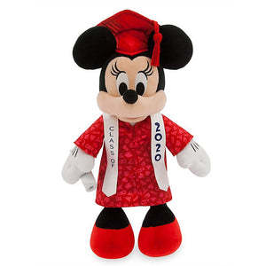 Disney Parks Minnie Mouse Graduation Class 2020 Plush New with Tags