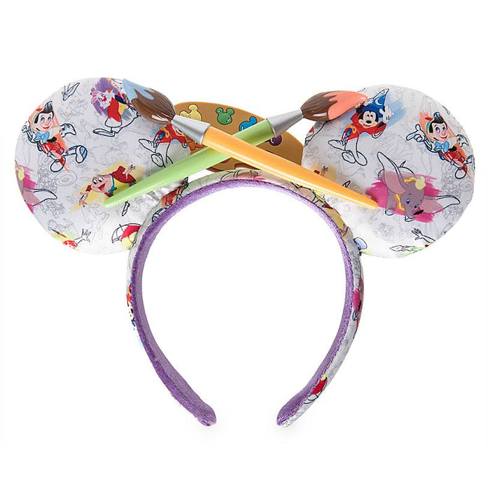 Disney Parks Ink and Paint Mickey Ear Headband One Size New with Tag
