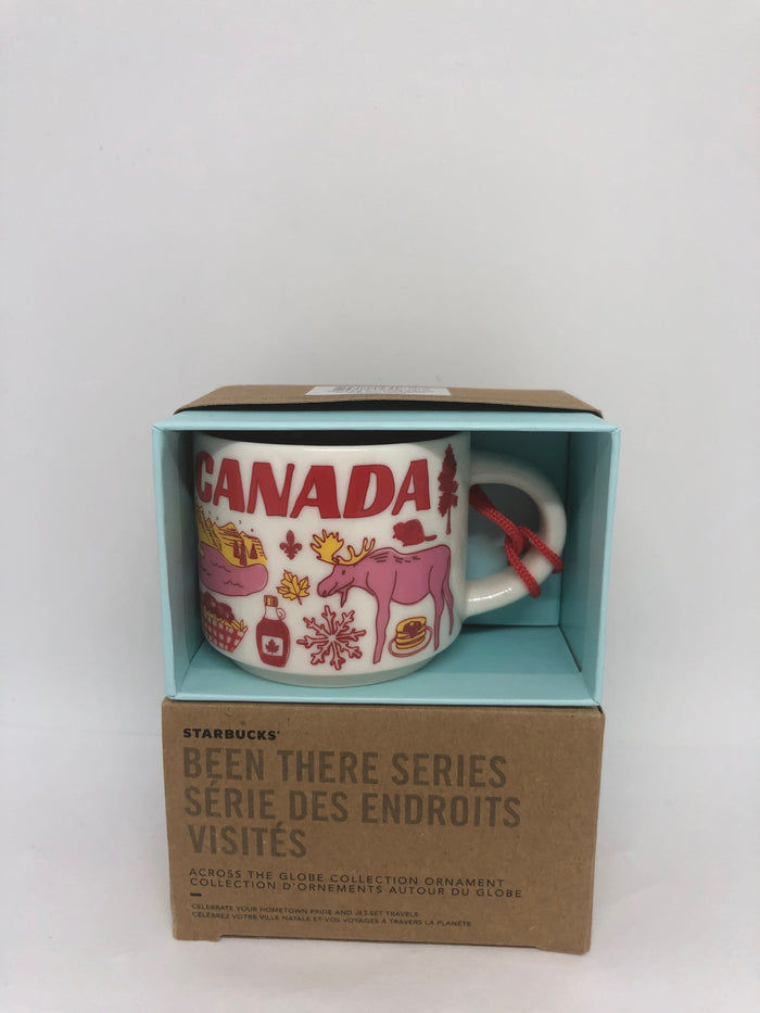 Starbucks Coffee Been There Canada Ceramic Mug Ornament New with Box