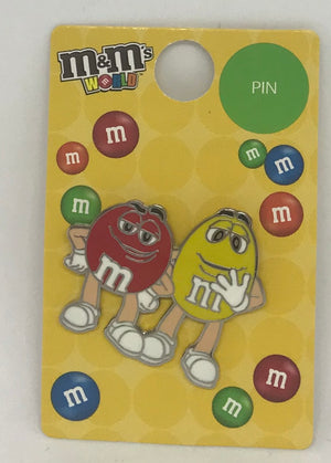 M&M's World Red and Yellow Character Pin New with Tag