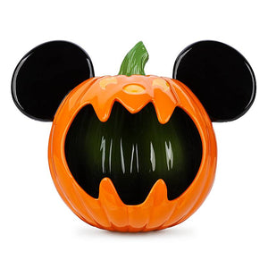 Disney Mickey Mouse Jack-o'-Lantern Halloween Candy Bowl New