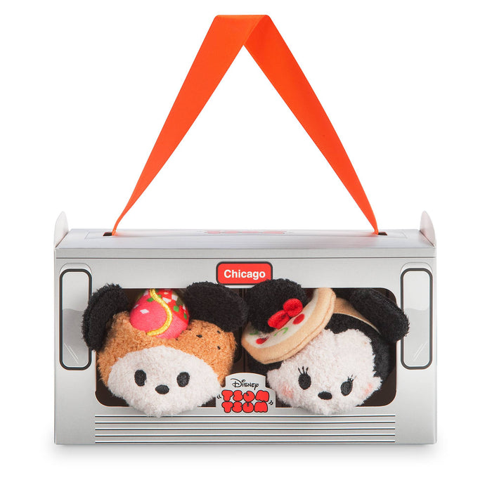 Disney Store Mickey and Minnie Mouse Tsum Tsum Plush Chicago Set Mini 3 1/2''