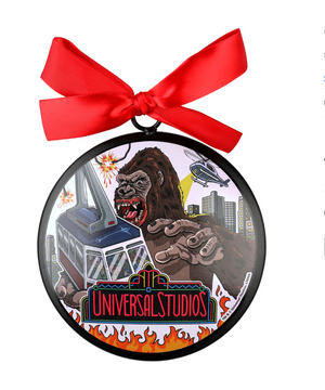 Universal Studios Retro Kongfrontation Ceramic Christmas Ornament New with Tag