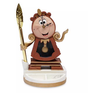 Disney Beauty and the Beast Cogsworth Desk Clock with Pen New with Box