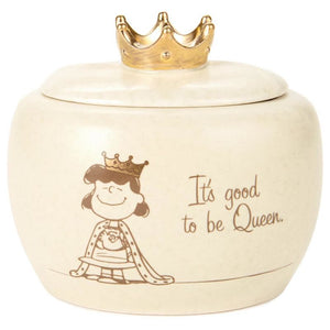 Hallmark Peanuts Lucy Queen Ceramic Treasure Box with Lid New