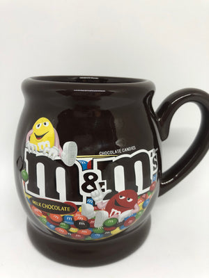 M&M's World Milk Chocolate Candies Yellow and Red Ceramic Coffee Mug New