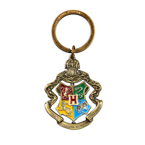 Universal Studios Harry Potter Hogwarts Crest Spinning Keychain New with Tags