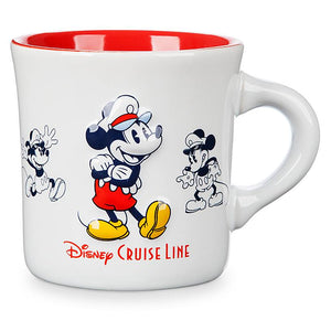 Disney Cruise Line Mickey Mouse Diner Coffee Mug New
