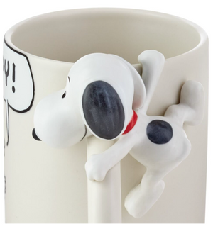 Hallmark Peanuts Dimensional Snoopy and Charlie Brown Mug New