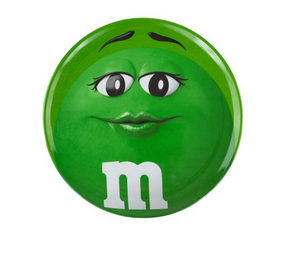 M&M's World 2020 Green Character Big Face Dinner Plate New