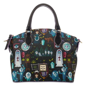 Disney Dooney & Bourke Haunted Mansion Wicked Cast Of Characters Satchel New