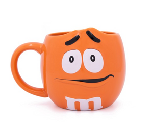 M&M's World Orange Character Figural Coffee Mug New