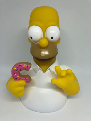 Universal Studios The Simpsons Homer with Donut Bust Coin Bank New
