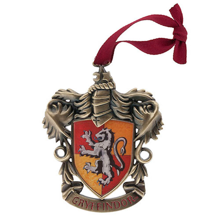 Universal Studios Harry Potter Gryffindor Metal Holiday Ornament New with Tags