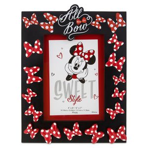 Disney Parks Minnie Mouse ''All About the Bow Picture Photo Frame 4x6 or 5x7 New