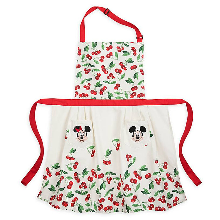 Disney Parks Back in the Day Mickey Minnie Retro Apron for Adults New with Tag