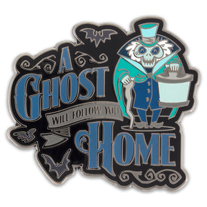 Disney Haunted Mansion Hatbox A Ghost Will Follow You Home Pin New
