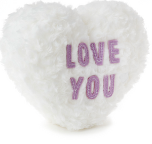 Hallmark Valentine Love You Candy Heart Recordable Plush New with Tag