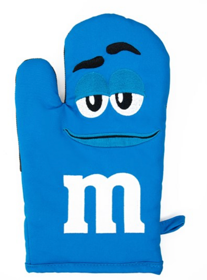 M&M's World Blue Character Oven Mitt New with Tag