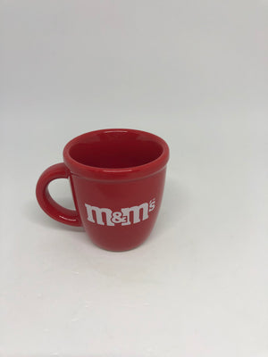 M&M's World Logo Red Solid Shot Glass Mini Mug New