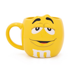 M&M's World Yellow Character Figural Coffee Mug New