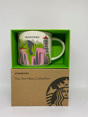 Starbucks You Are Here Collection Mianyang China Ceramic Coffee Mug New With Box