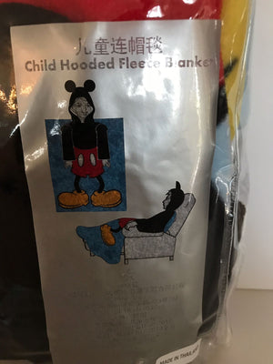 Disney Parks Mickey Child Hooded Fleece Blanket New Sealed