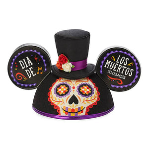 Disney Parks Halloween Dia De Los Muertos Mickey Mouse Ear Hat for Adults New