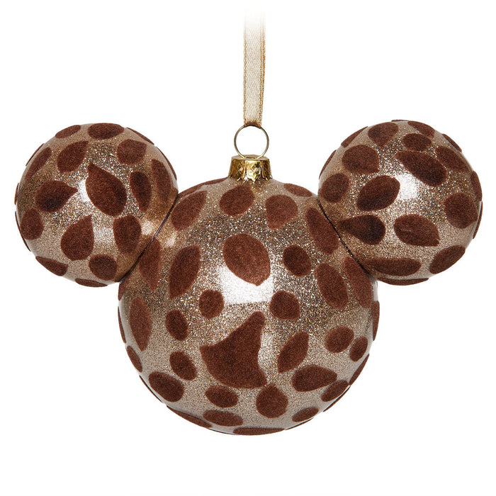 Disney Parks Mickey Icon Giraffe Christmas Glass Ball Ornament New With Tags