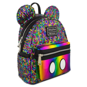 Disney Mickey Mouse Rainbow Mini Backpack by Loungefly New with Tags