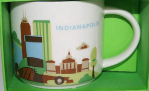 Starbucks You Are Here Indianapolis Indiana Ceramic Coffee Mug New With Box