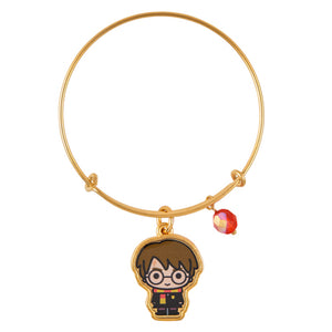 Universal Studios Harry Potter Gold Tone Charm Bangle New with Tag