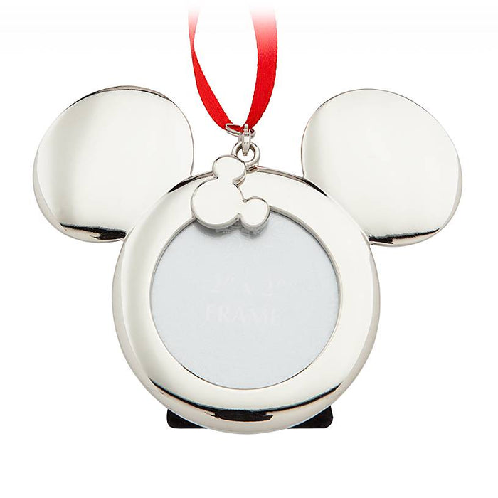 Disney Parks Mickey Mouse Icon Metal Frame Christmas Ornament New with Tags