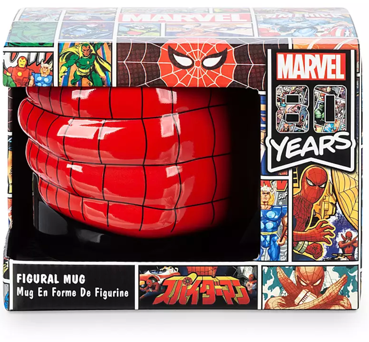 Anniversary New Spider Box With Marvel Limited 80th Disney Man Mug Figural wZiTPXuOk