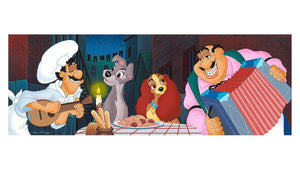 Disney Parks Lady & the Tramp at Tony's Place Deluxe Print by Williams New