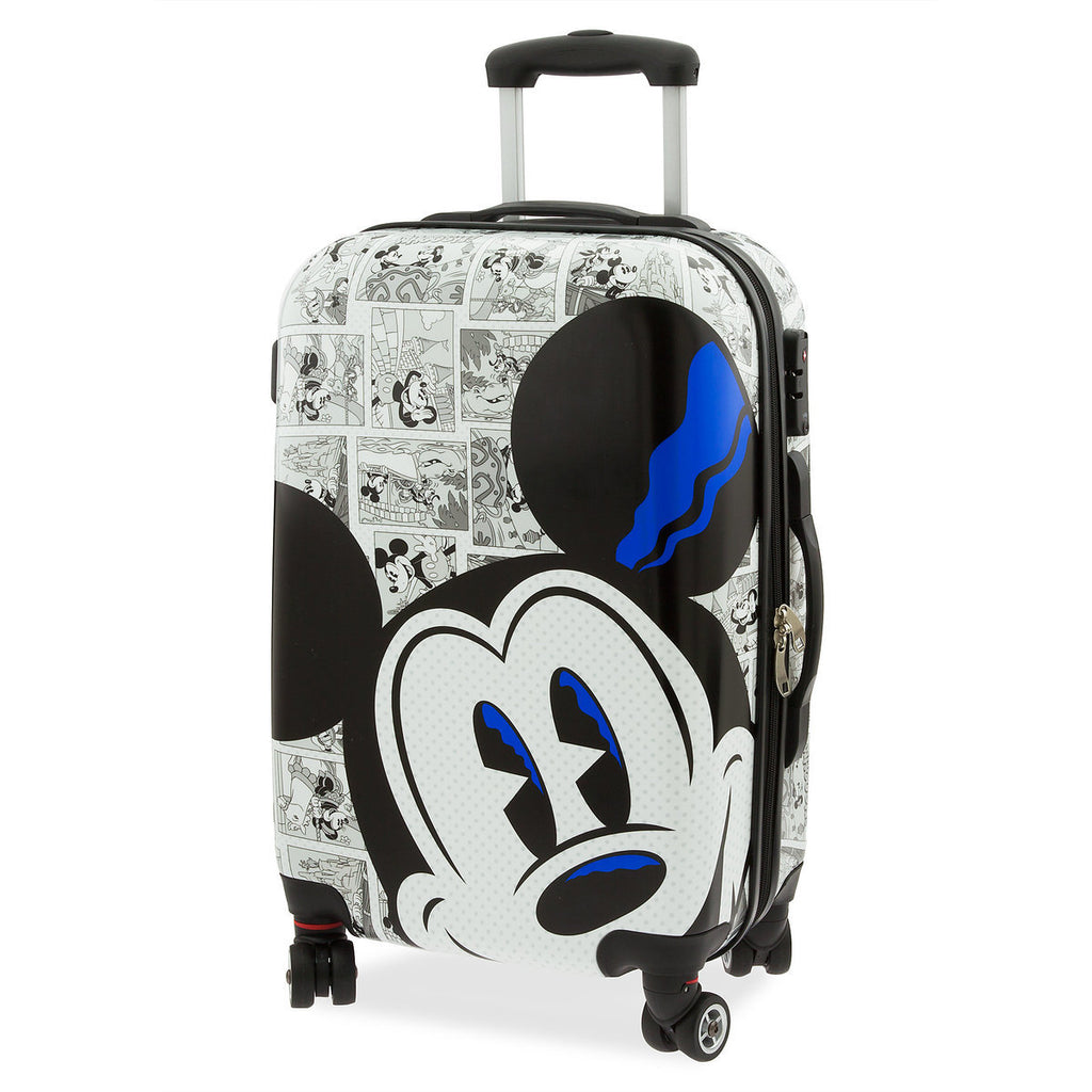 Disney Parks Mickey Comic Luggage Spinner 21inc Small New