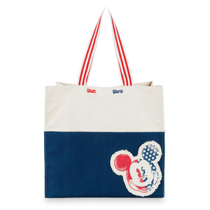 Disney Parks Walt Disney World Mickey Americana Cotton Tote Bag New with Tags