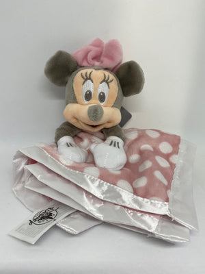 Disney Parks Pink Minnie Mouse Layette Babies Blanket New with Tag