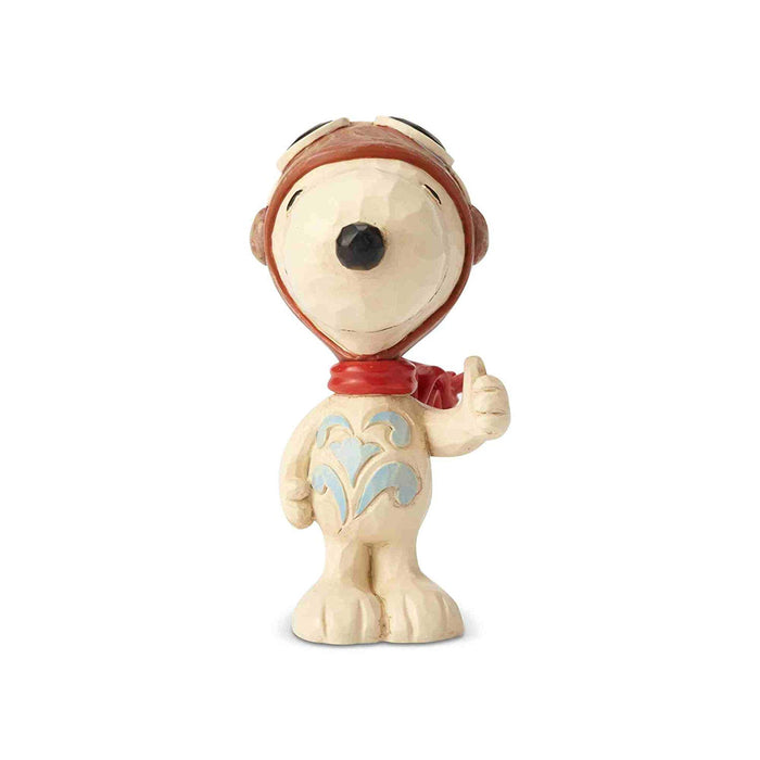 Jim Shore Peanuts Snoopy Flying Ace Mini Resin Figurine New with Box