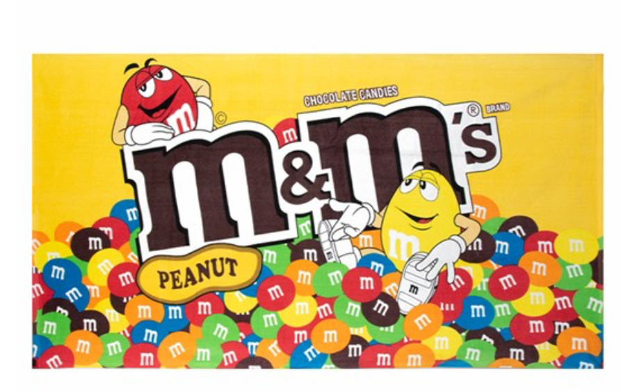 M M S World Characters Peanut Bag Beach Towel New With Tags I