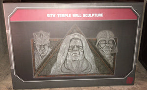 Disney Parks Star Wars Galaxy's Edge Sith Temple Wall Sculture New