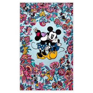 Disney Mickey Mouse and Friends Colorful Garden Plush Throw Blanket Vera Bradley