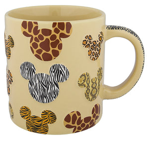 Disney Parks Animal Kingdom Animal Print Mickey Mouse Icons Ceramic Coffee Mug
