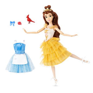 Disney Store Princess Belle Ballet Doll 11 1/2'' Beauty and the Beast New