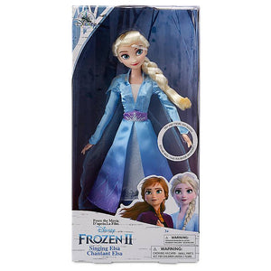 Disney Store Elsa Singing Doll Frozen 2 11'' New with Box