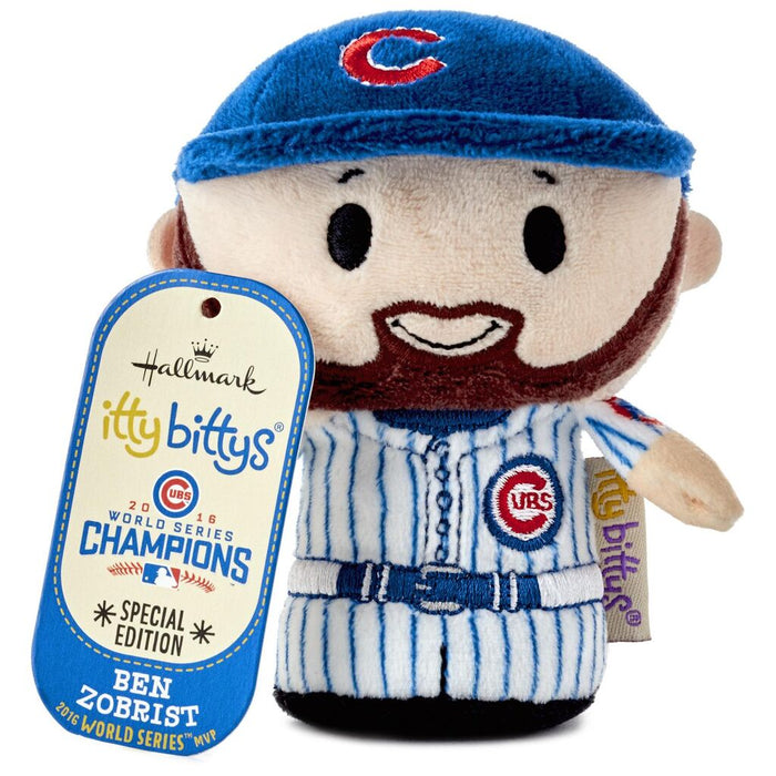 Hallmark Chicago Cubs Ben Zobrist Limited Itty Bittys Plush New with Tag