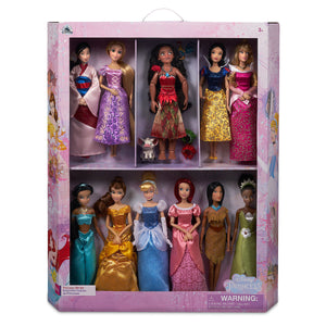Disney Store Princess Doll Gift Set 11'' Collection Ariel Belle Jasmine Aurora
