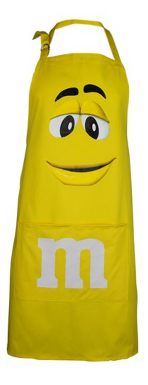 M&M's World Yellow Character Apron and Chef Hat Set for Adult  New with Tag