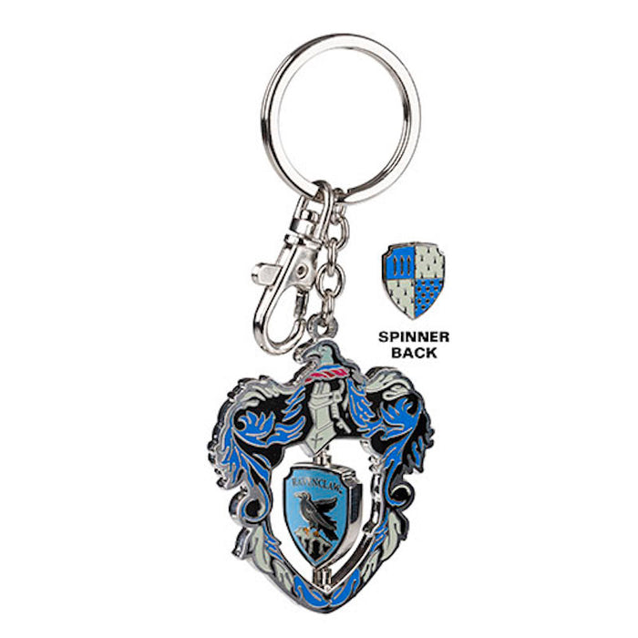 Universal Studios Harry Potter Ravenclaw Crest Spinning Keychain New with Tags